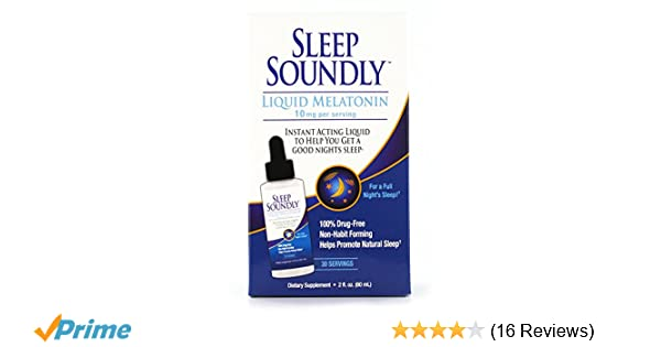 Amazon.com: Sleep Soundly Liquid Melatonin 10mg, Instant Acting Sleep Formula, 30 servings: Health & Personal Care