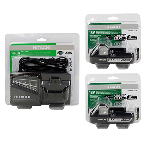 Hitachi UC18YFSL 14.4-18V Battery Charger & (2) BSL1830C #339782 18V Batteries