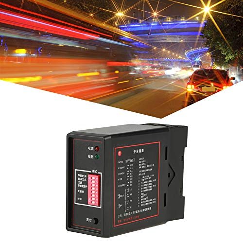 Vehicle Loop Detector,PD132 Single Channel Inductive Vehicle Loop Detector Sensor,Selectable Pulse Time Exit Safety Sensor Detector,for The Car ()