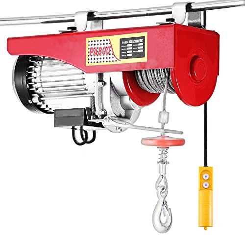 Happybuy 1500LBS Lift Electric Hoist 110V Electric Hoist Overhead Crane Lift Electric Wire Hoist Remote Control (1500LBS)
