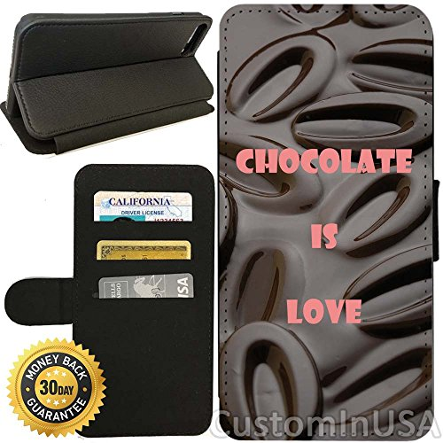 Flip Wallet Case for iPhone 7 (Chocolate Cocoa Beans Lover) with Adjustable Stand and 3 Card Holders | Shock Protection | Lightweight | by Innosub