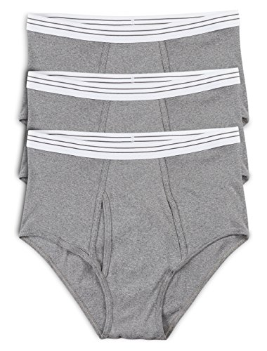 Harbor Bay by DXL Big and Tall Color Briefs 3-Pack (3XL, Grey) - Harbor Bay Big Tall