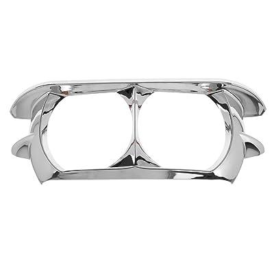 Rebacker Motorcycle Headlamp Headlight Trim Cover Bezel for Harley Road Glide 2015-2020,Chrome: Automotive