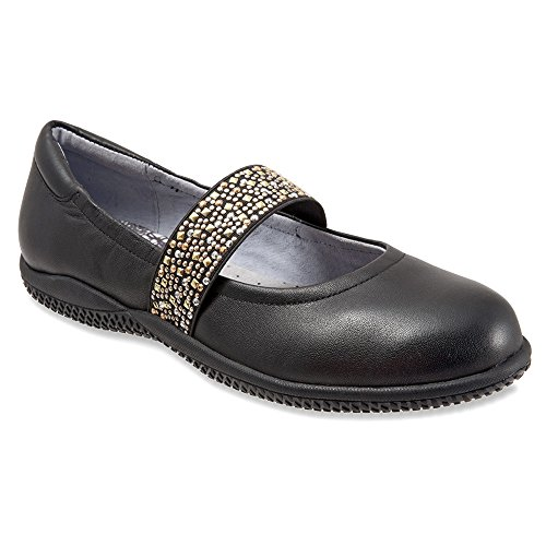 SoftWalk Women's High Point Black Soft Nappa Leather w/ Studded Elastic 8 S (AAA) (Leather Studded Nappa)