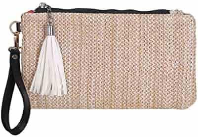 bf8a64cbf02e Shopping Straw - Beige - Clutches & Evening Bags - Handbags ...