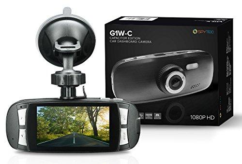 Spy Tec G1W-C Capacitor Model Dash Cam Heat Resistant Full HD 1080P 2.7' LCD Car DVR Video Recorder with Novatek NT96650