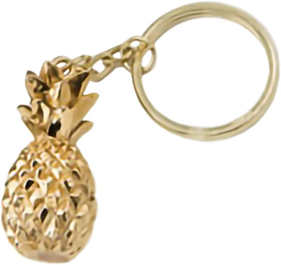 FavorOnline Warm Welcome Collection Gold Pineapple Themed Key Chain, 48