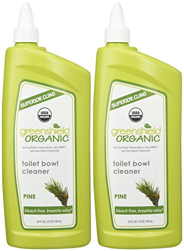 (GreenShield Organic USDA Certified Organic Toilet Bowl Cleaner, Pine Scent, 24 Ounce (Pack of 2))