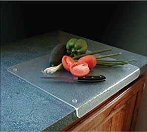 "Acrylic Cutting Board with Lip - Non Slip (Frosted Acrylic) (1""H x 15""W x 20""D)"
