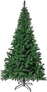 شجرة الكريسماس - شجرة كريسماس اصطناعية بطول 2.1 متر مع حامل ديكور داخلي ومفصل خارجي ممتاز للعام الجديد للمنزل