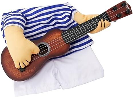 B Blesiya Perro Navidad Jugar Guitarra Traje Suéter De Rayas ...