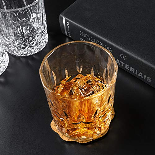 KANARS Double Old Fashioned Whiskey Glasses With Luxury Gift Box - Rocks Barware For Scotch, Bourbon and Cocktail Drinks - Set of 4 by KANARS (Image #8)