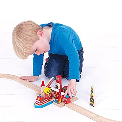 Bigjigs Rail Wooden Fire Sea Rescue Playset - Other Major Wooden Rail Brands are Compatible: Toys & Games