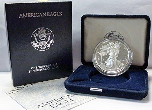 1996 P American 1 oz Silver Eagle Dollar Proof US - American Silver 1996 Eagle Coin