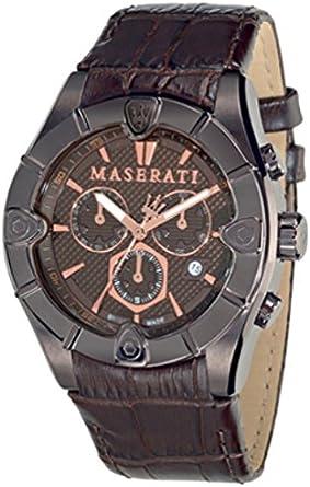 Maserati R8871611001 - Reloj de Pulsera para Hombre (cronógrafo, Cuarzo, Correa de Piel)