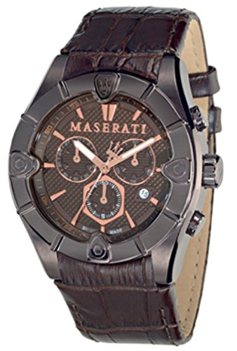 Maserati Reloj de Pulsera para Hombre XL Cronógrafo Cuarzo Piel R8871611001