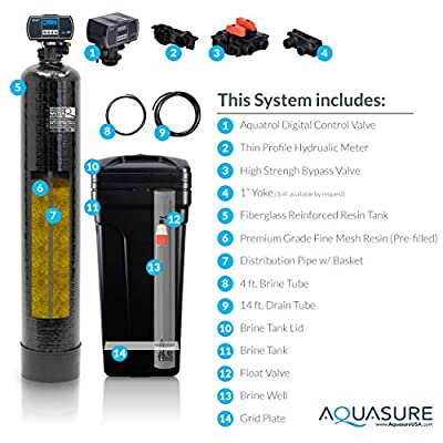 Aquasure Harmony Series 32,000 Grain Whole House Water Softener with High Efficiency Digital Metered Control Head and Fine Mesh Resin