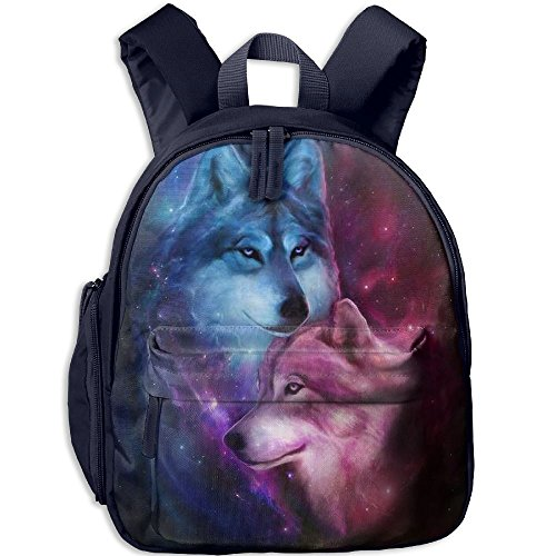 Mini School Backpack Making With Wolf Love For Kindergarten Unisex Kids - Angeles Los Street Oxford