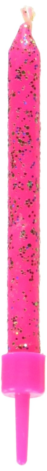 Wilton Birthday Glitter Candles - PINK (Set of 10)