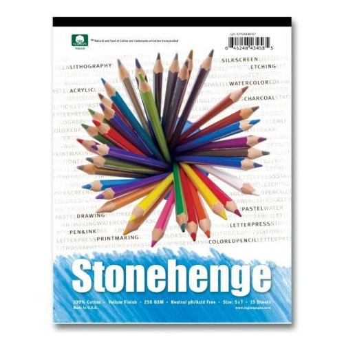 Stonehenge L21-STP250WH912 9 in. x 12 in. Versatile Artist Papers Pad - 15 Sheets of White by Stonehenge
