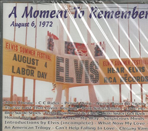 ELVIS PRESLEY - A MOMENT TO REMEMBER LAS VEGAS 8-6-72