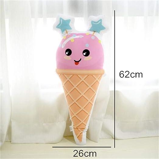 Almohada con forma de helado Kawaii Almohada de felpa corta ...