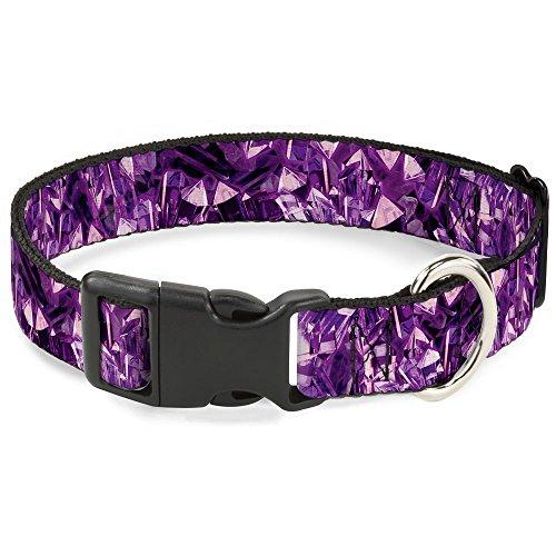 Buckle-Down Plastic Clip Collar - Crystals Purples - 1
