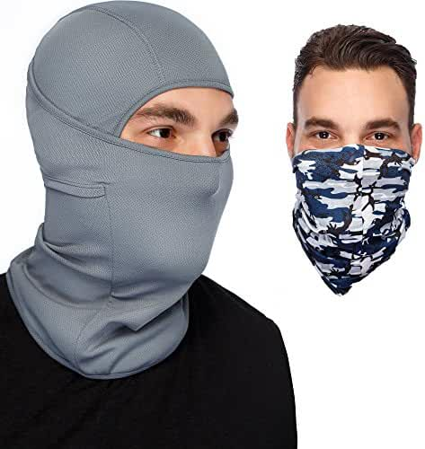 Balaclava Ski Mask: Full Face Mask + Headband - Motorcyle Mask - Tactical Hood