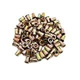 uxcell 90pcs 5/16-18 Zinc Plated Steel Flat Head Rivet Nut Insert Nutsert for Car