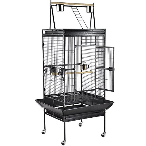 Yaheetech Parrot Bird Cage Playtop Cockatiel Cockatoo Birdcages 79 x 75 x 173cm