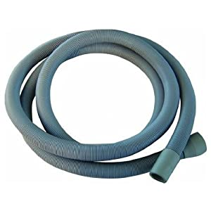 Europart Universal Drain Outlet Hose and Hook with 19//22 mm Fitting 2.5 m