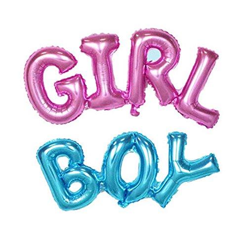 AnnoDeel 2 pcs BOY GIRL Letter Balloons, 40