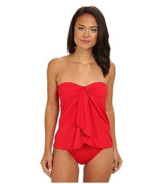 5c027af47810d Lauren Ralph Lauren Flyaway Draped Front One-Piece Swimsuit Coral at Amazon  Women's Clothing store:
