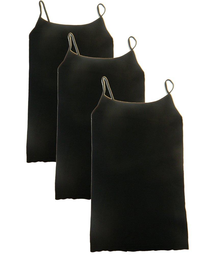 Nikibiki Long Camisole 3 Pack Style NS4011 Black