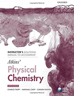 instructor s solutions manual to accompany atkins physical rh amazon com atkins solution manual 5th edition atkins solution manual 8th edition
