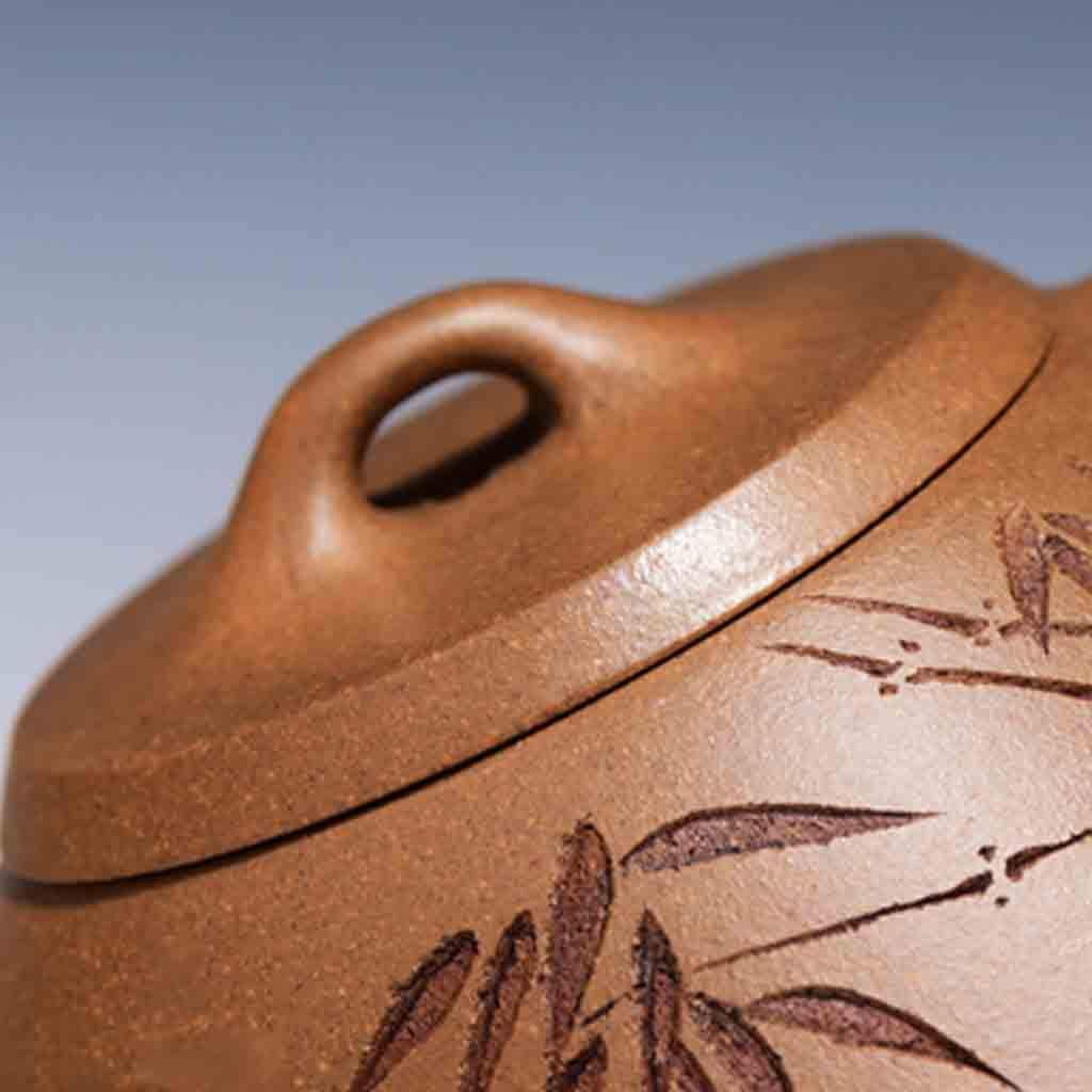Tea Cozies Zisha Pot Pure Hand-Made Section mud Stone Scoop Xi Shi Antique Household Kung Fu teapot Tea Set (Color : Brown, Size : 16.76.87.8cm) by Tea Cozies (Image #5)