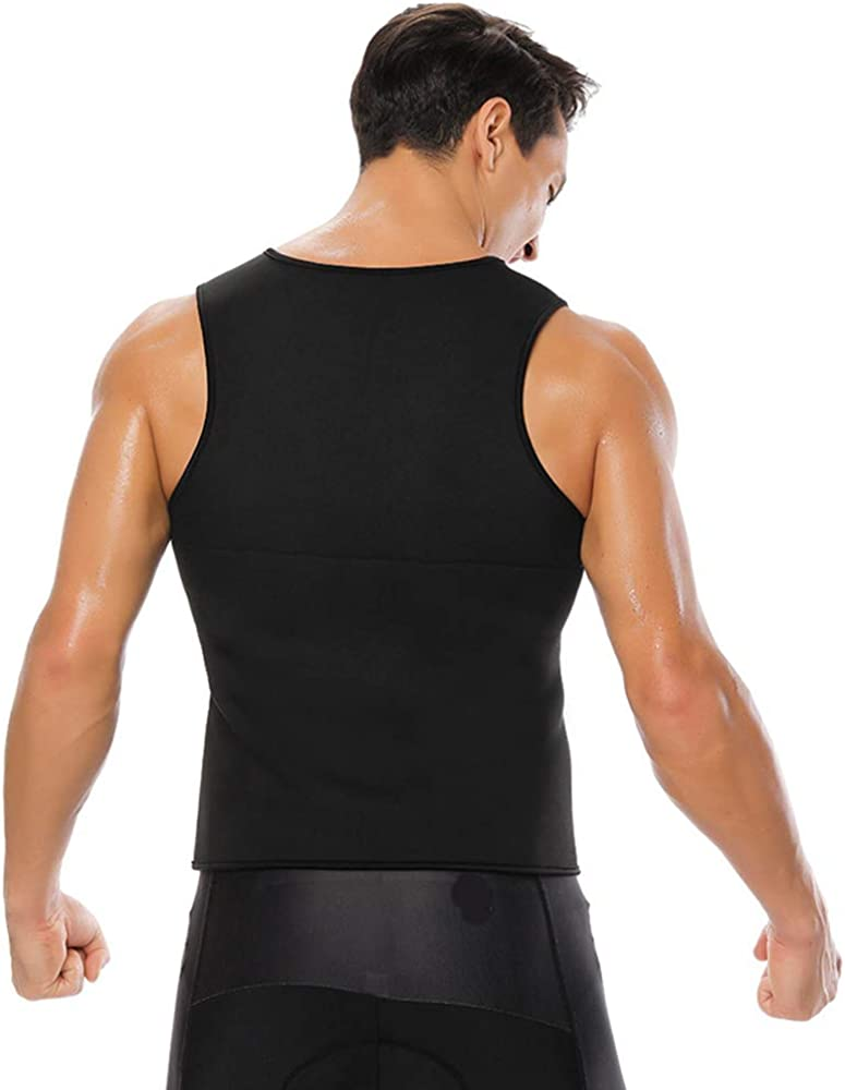 Karl Aiken Mens Sweat Vest Body Shaper Sleeveless Shirts Weight Loss Shapewear