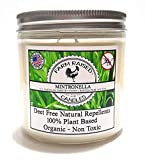 Mintronella Essential Oil No-See-Um Mosquito Repellent 16-oz Dual Wicks 100% All American Natural Soy Deck Party Patio Candle 80 Hr Large Citronella, Rosemary, Lavender Essential oils (1 Pack)