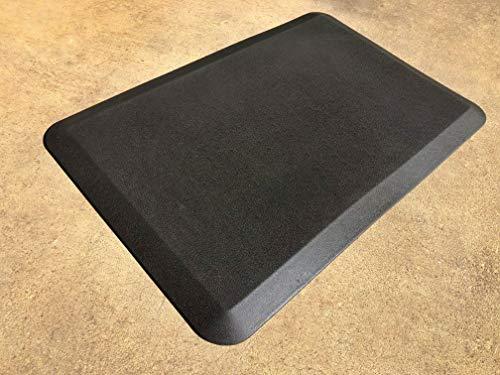 (omniwork | Anti-Fatigue Standing Comfort Mat | Durable Non-Slip | Ergonomic | Eco-Friendly | 20 x 30 x 7/8 inch | Black | Waterproof Polyurethane Skin)