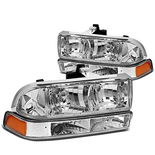 DNA MOTORING HL-OH-S10984P-CH-AM Headlight Assembly, Driver and Passenger Side