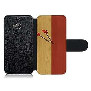 Funda carcasa de cuero para HTC One M8 diseño flechas