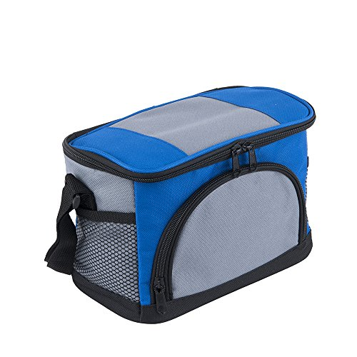 Sunkey Insulated Lunch Bag Freezable 6 Can Cooler Bag Soft Leakproof Liner with Shoulder Strap