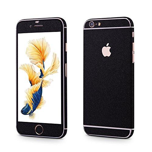 OKCS®Premium Glamorous sticker for Apple iPhone 6 Plus, 6s Plus Skin Glitter film Protector Slim Sticker film Case Cover in Structure-Optik in Black Opium