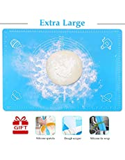 """Extra Large Silicone Baking Mat,25""""x18""""Non-Stick Pastry Mat Board Table Placemat Pad for Baking,Rolling Dough with Measurements, Reusable Heat-Resistant BPA Free"""