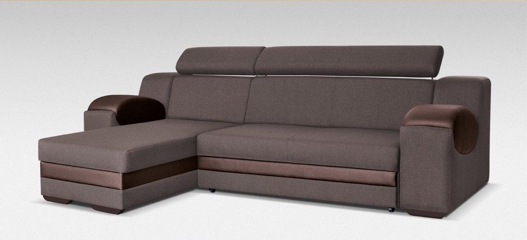 Couch Mit Schlaffunktion Eckcouch Ecksofa Wohnlandschaft Braun
