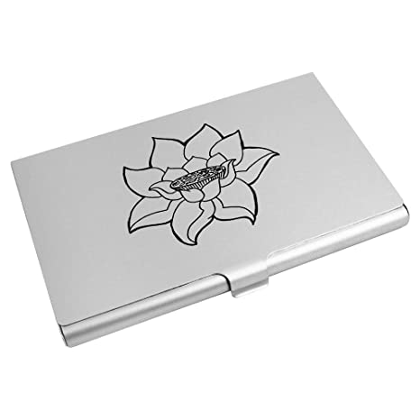 Azeeda Fleur De Lotus Porte Carte Visite Credit