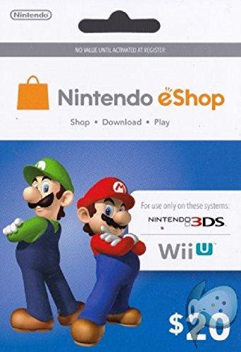 Video Games : Nintendo Prepaid eShop $20 for 3DS or Wii U