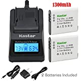 Kastar Ultra Fast Charger(3X faster) Kit and Battery (2-Pack) for Olympus LI-90B, LI-92B, UC-90 work with Olympus SH-1, SH-50 iHS, SH-60, SP-100, SP-100EE, Tough TG-1 iHS, Tough TG-2 iHS, Tough TG-3, XZ-2 his Cameras [Over 3x faster than a normal charger with portable USB charge function]