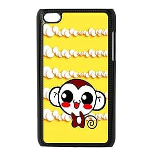 iPod Touch 4 Case Black Cute Sweet Hippie Monkey SLI_708528
