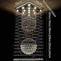 Mark la Escalera de Caracol de iluminación de arañas de Cristal, dúplex, Edificios Villa Vast salón de Luces de araña de iluminación Interior,16 Luces / 90 * 90 * 220 cm: Amazon.es: Deportes y aire libre